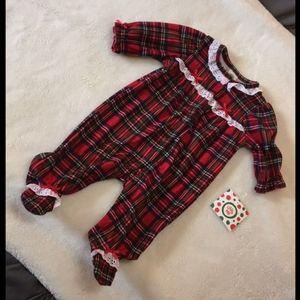 Little Me Plaid Fleece Pyjamas- 3month